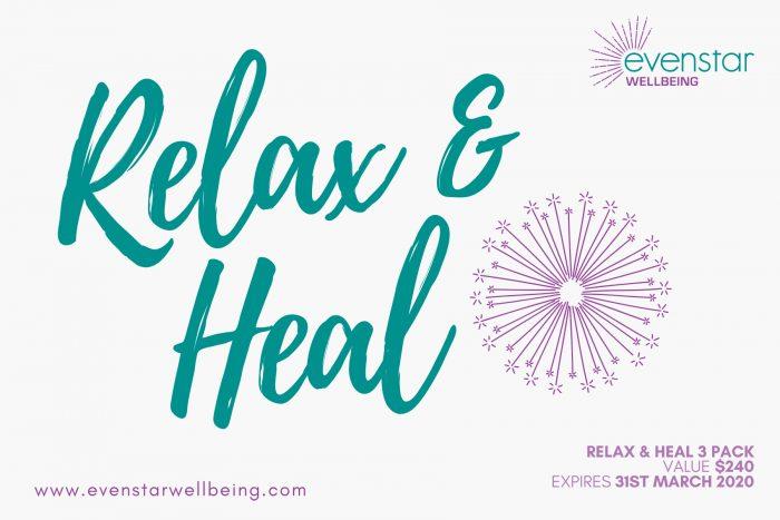 Relax & Heal 3 Pack Voucher